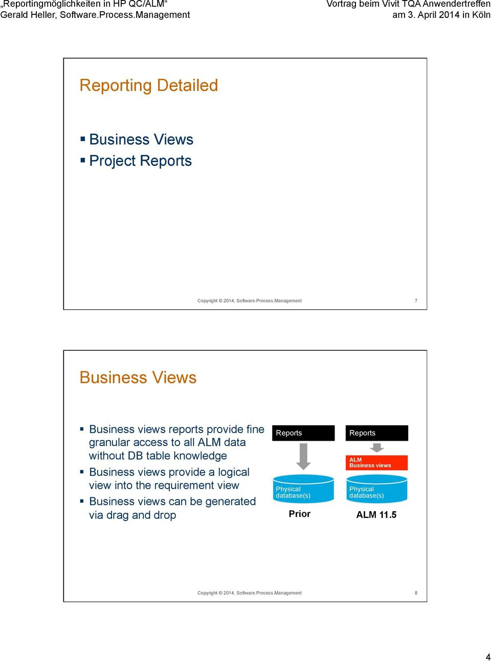 knowledge Business views provide a logical view into the requirement view Business views can be generated via drag