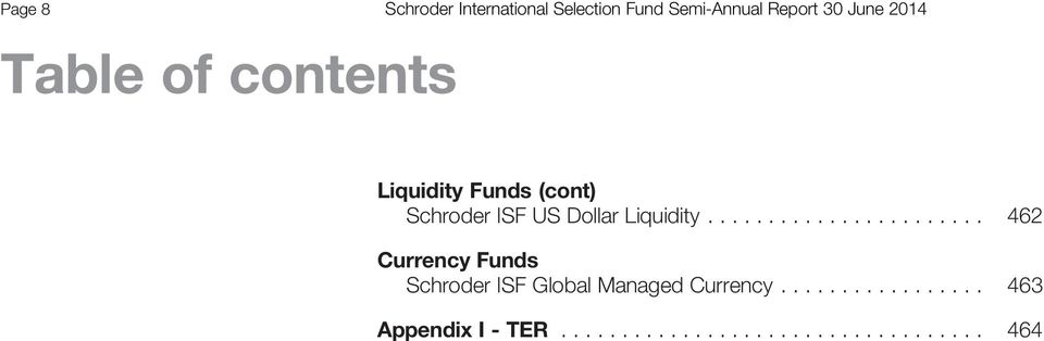 ...................... 462 Currency Funds Global Managed Currency.