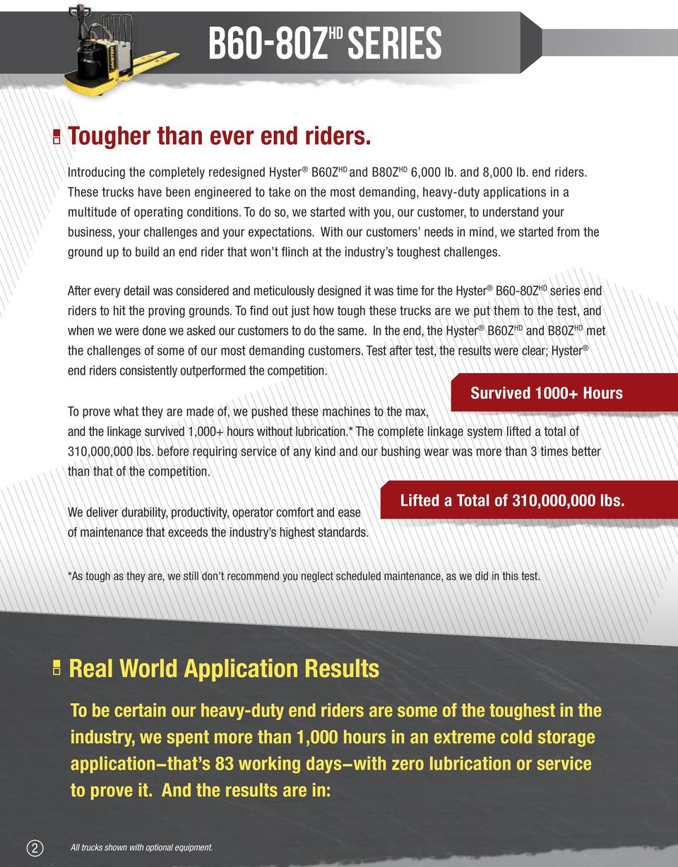 With our customers needs in mind, we started from the ground up to build an end rider that won t flinch at the industry s toughest challenges.