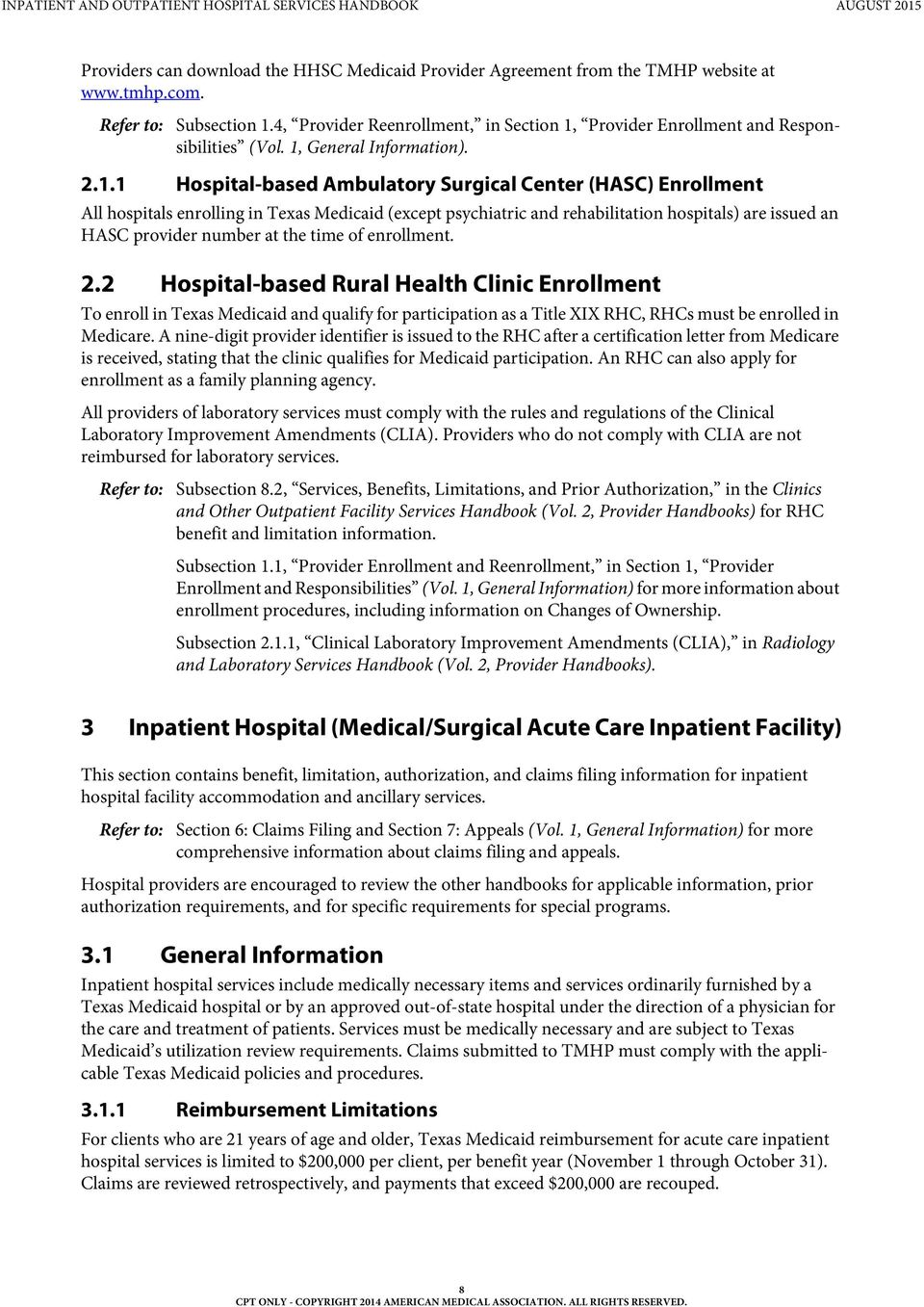 Provider Enrollment and Responsibilities (Vol. 1,