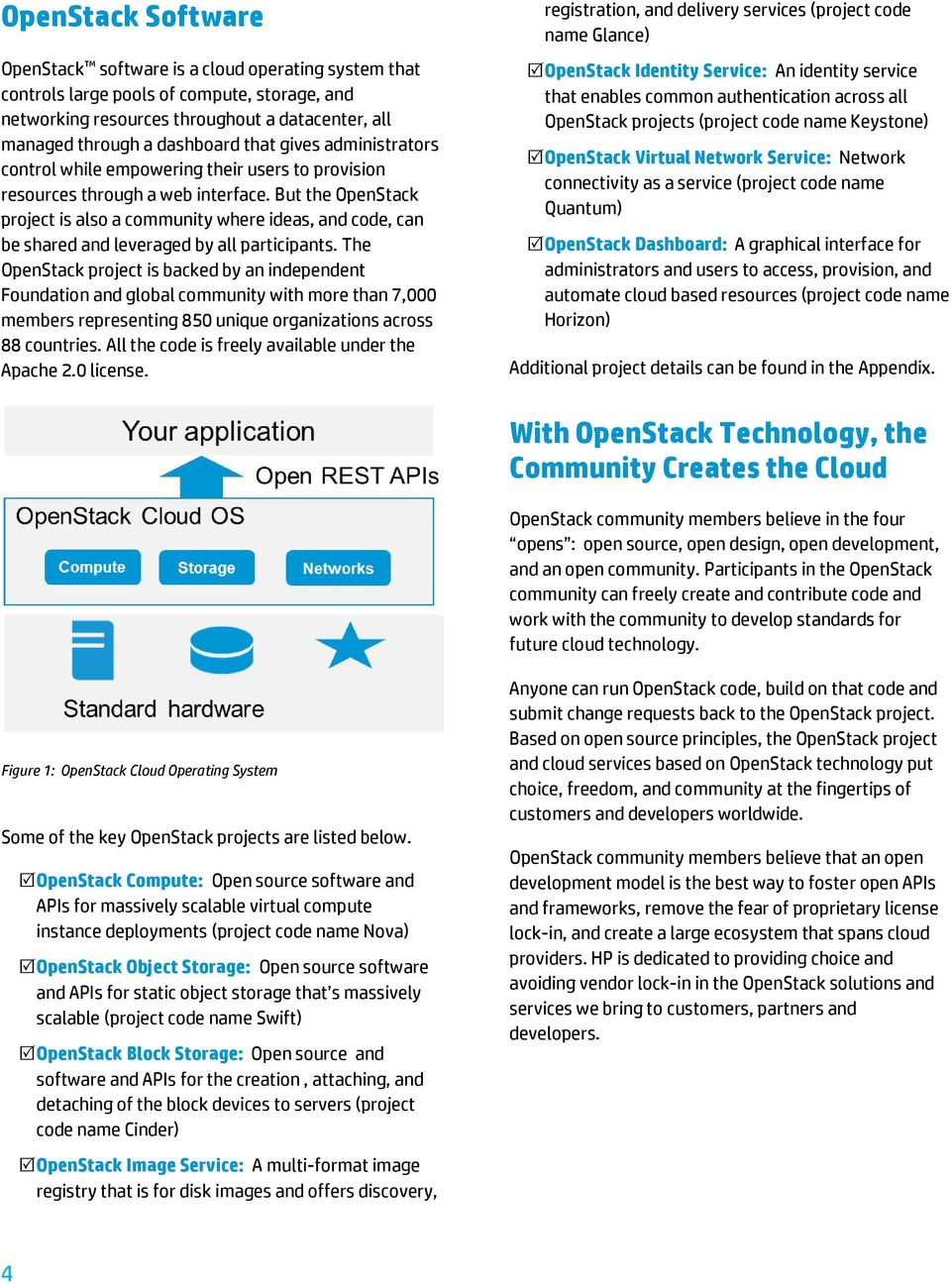 But the OpenStack project is also a community where ideas, and code, can be shared and leveraged by all participants.