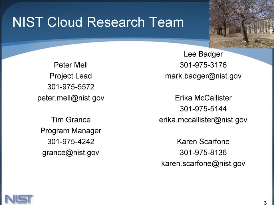 gov Lee Badger 301-975-3176 mark.badger@nist.