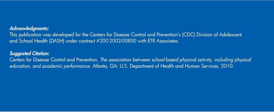 Suggested Citation: Centers for Disease Control and Prevention.