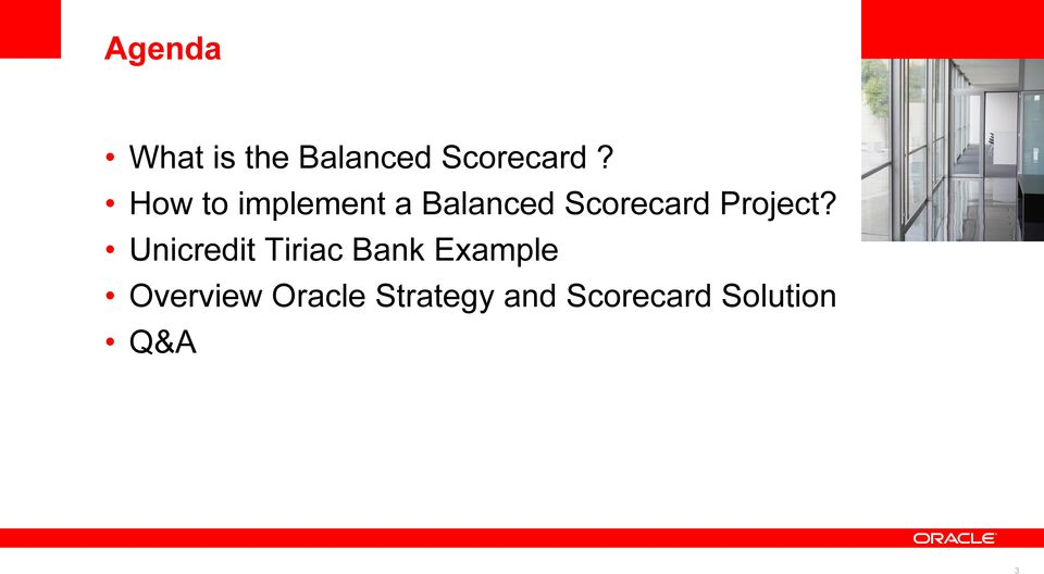 Balanced Scorecard Project?