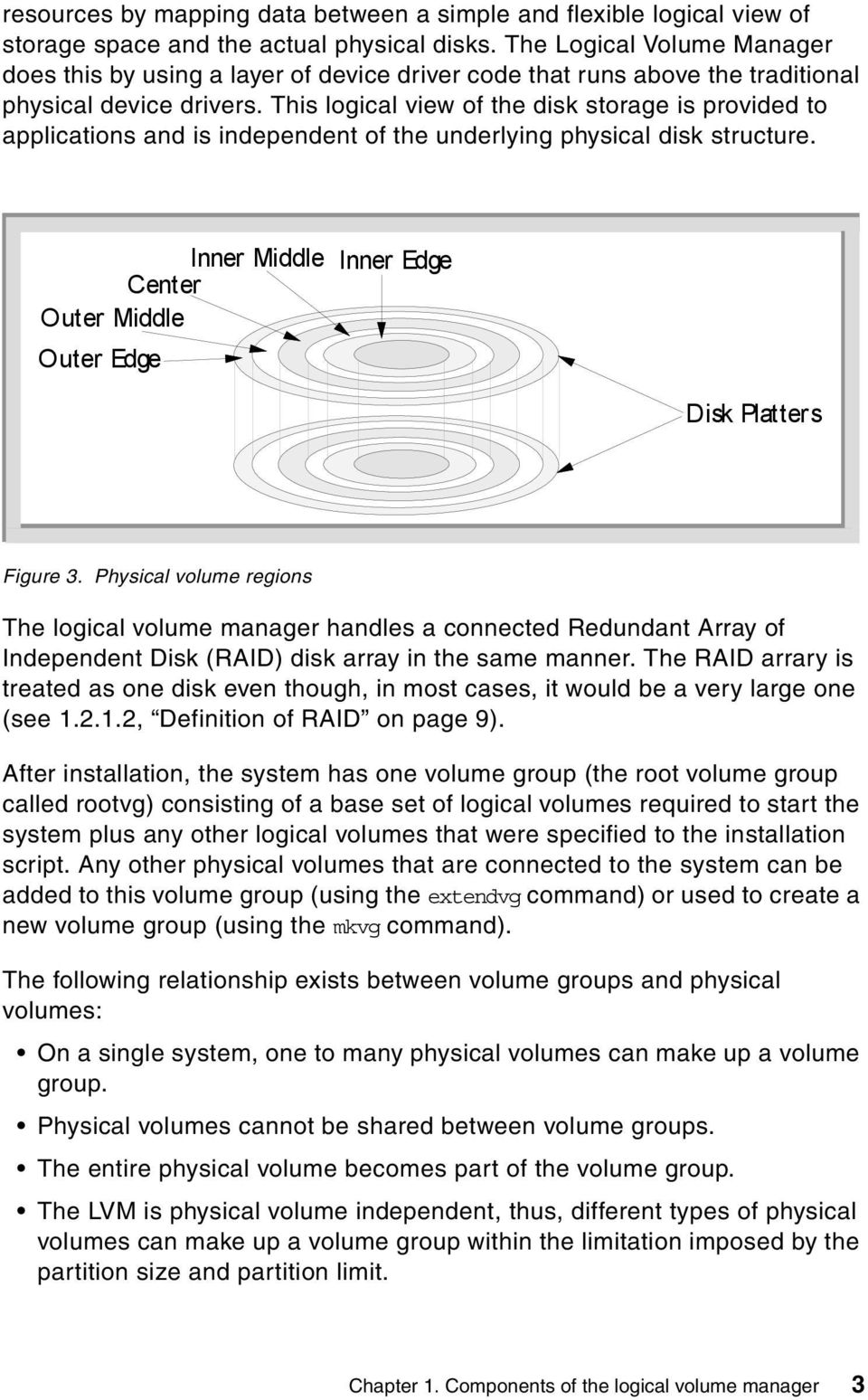 This logical view of the disk storage is provided to applications and is independent of the underlying physical disk structure.