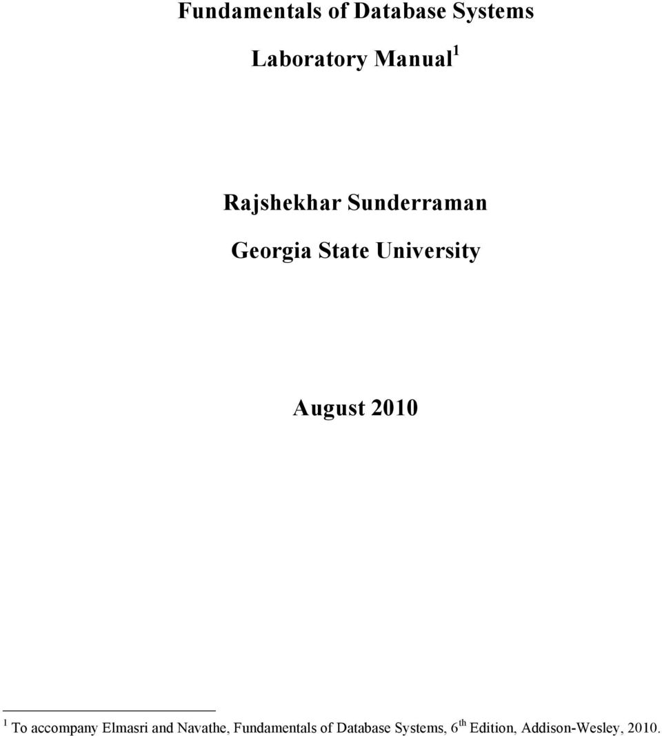 fundamentals of database systems elmasri navathe solutions manual pdf
