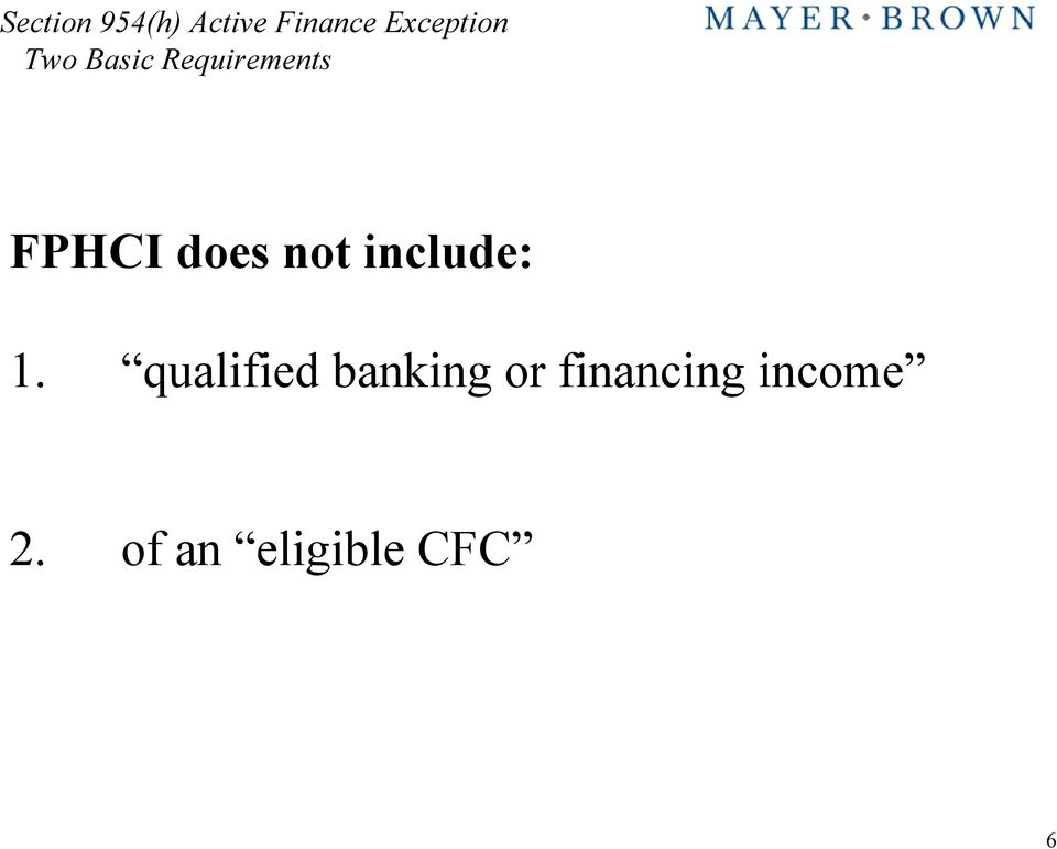 qualified banking or