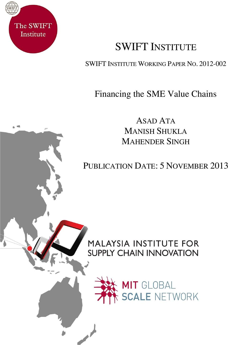 2012-002 Financing the SME Value Chains