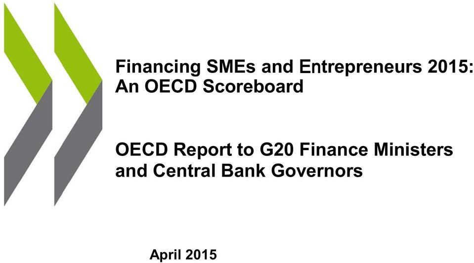 Report to G2 Finance Ministers
