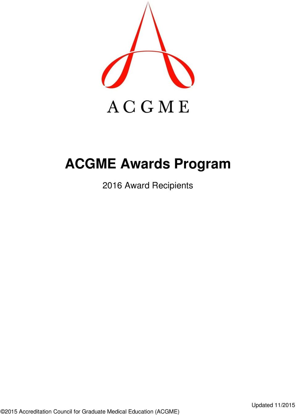ACGME - Accreditation Data System (ADS)