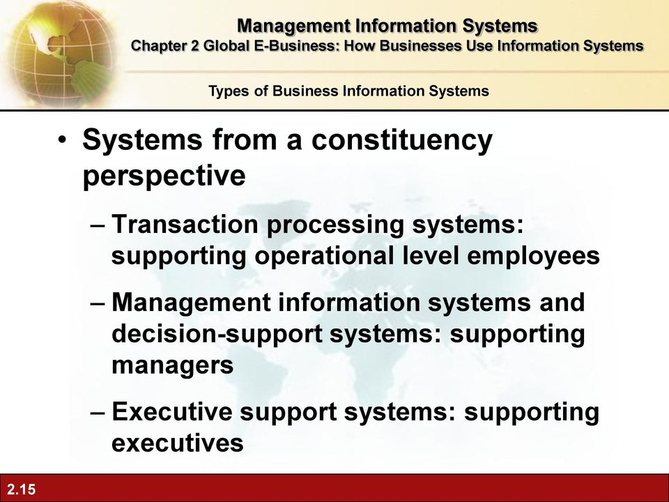 information systems and decision-support systems: supporting