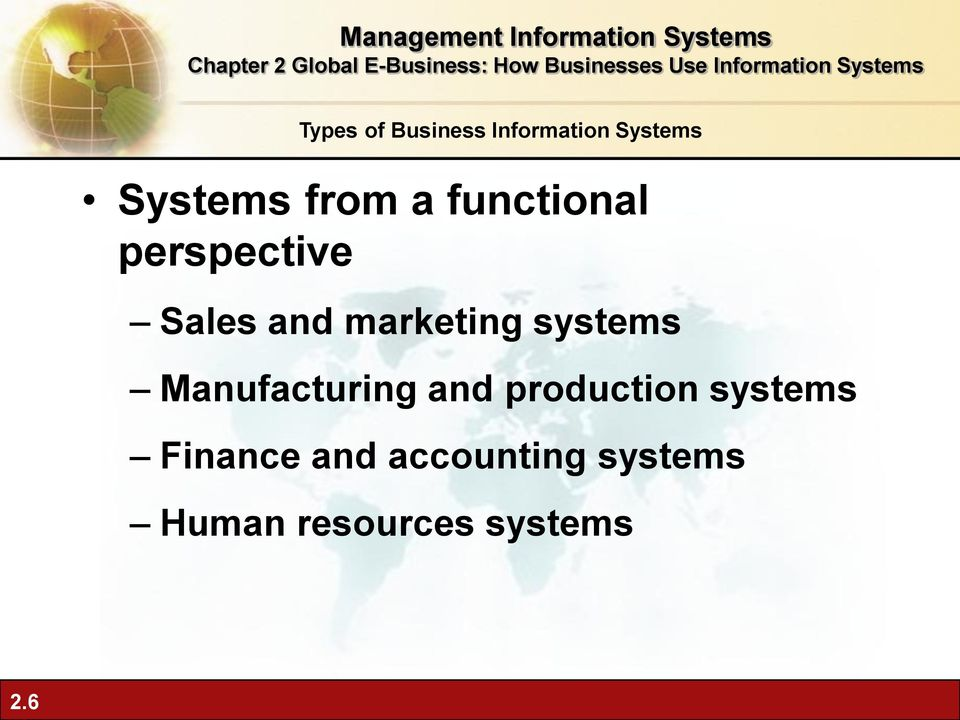 production systems Finance and accounting