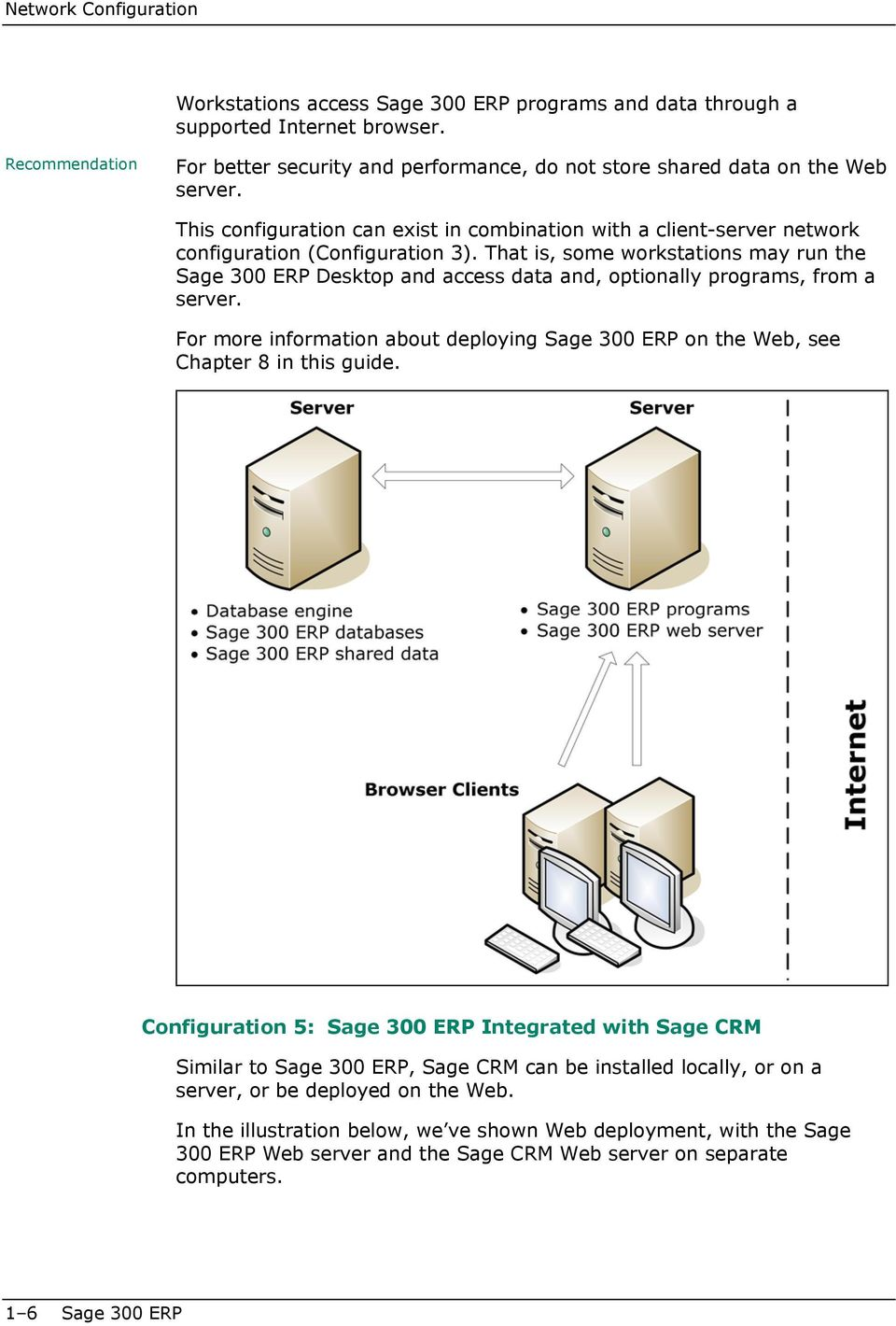 This configuration can exist in combination with a client-server network configuration (Configuration 3).
