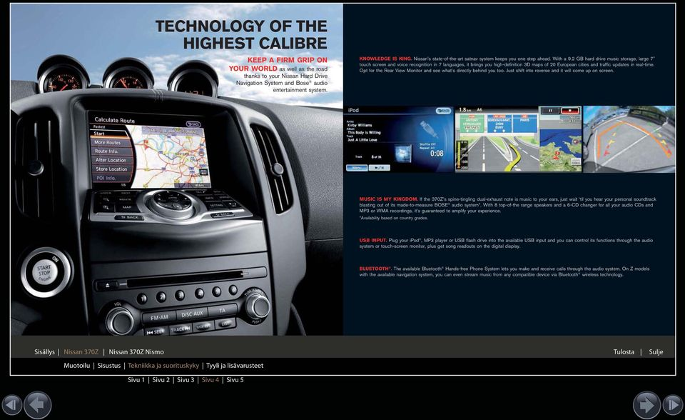 "2 GB hard drive music storage, large 7"" touch screen and voice recognition in 7 languages, it brings you high-definition 3D maps of 20 European cities and traffic updates in real-time."