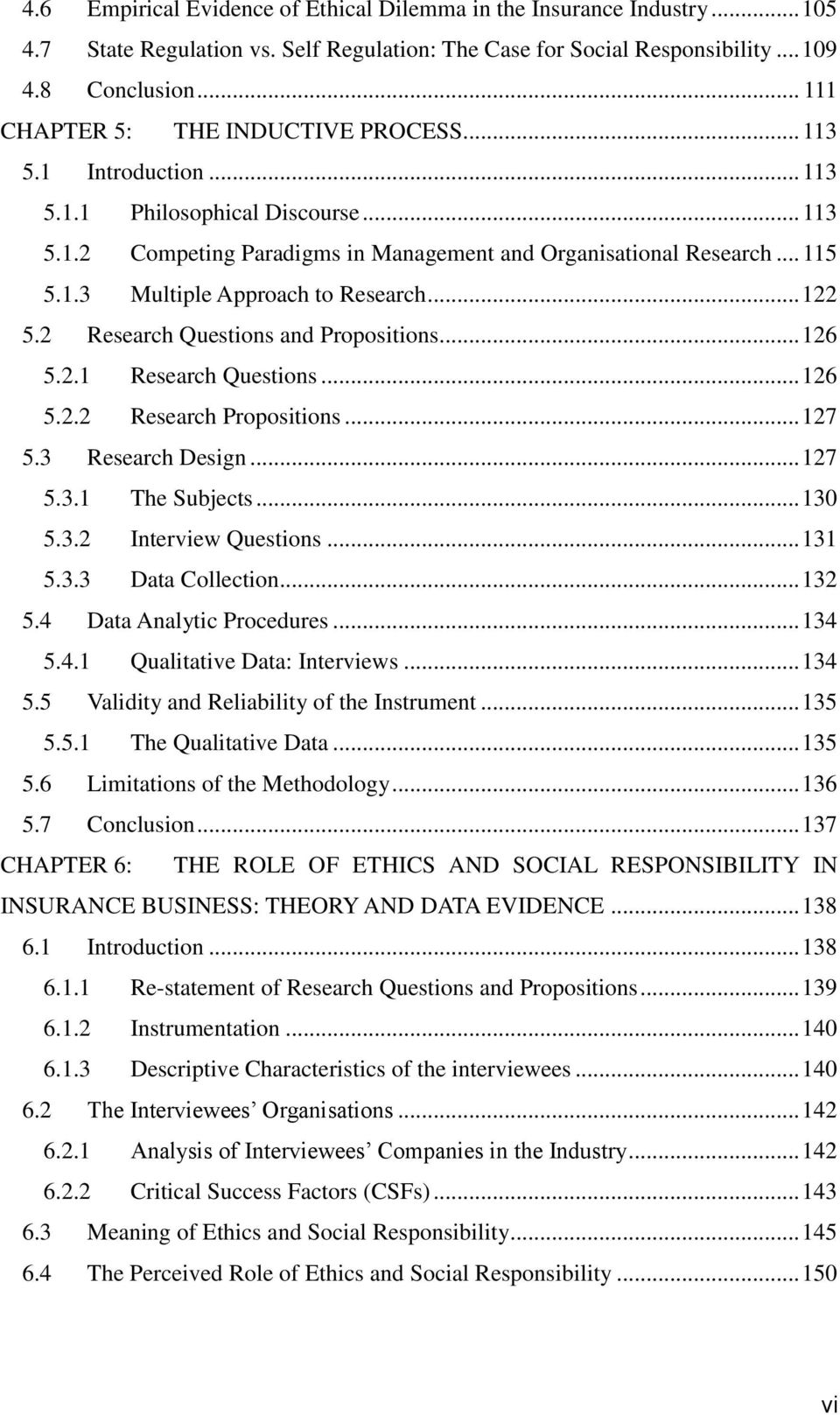 ethics and social responsibility in the ian insurance 122 5 2 research questions and propositions 126 5 2 1 research