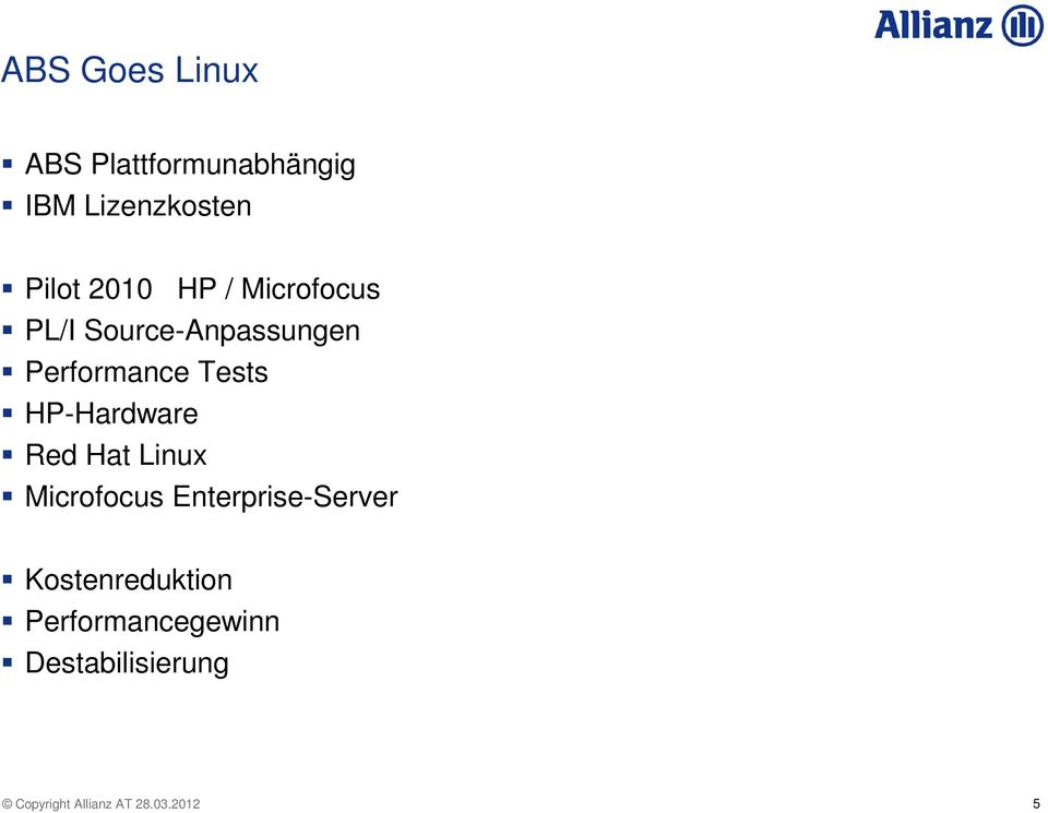 Performance Tests HP-Hardware Red Hat Linux Microfocus