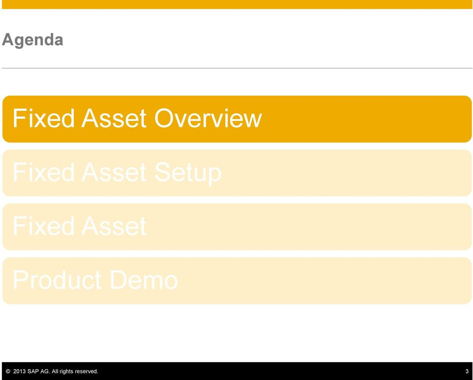 Fixed Asset Product Demo