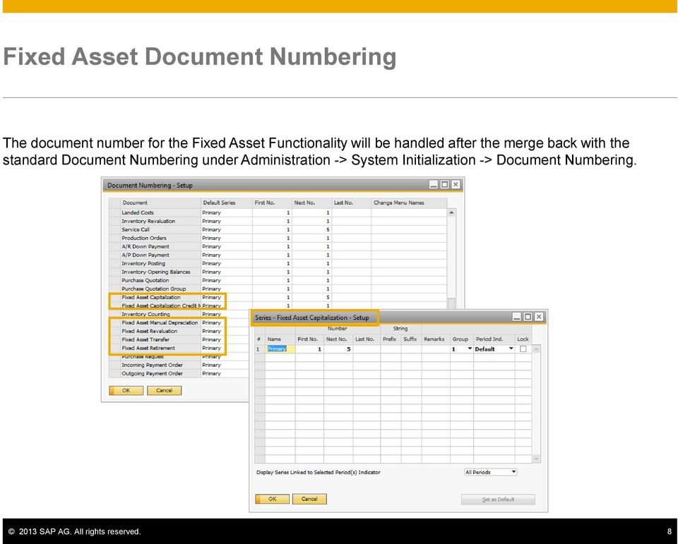 standard Document Numbering under Administration -> System