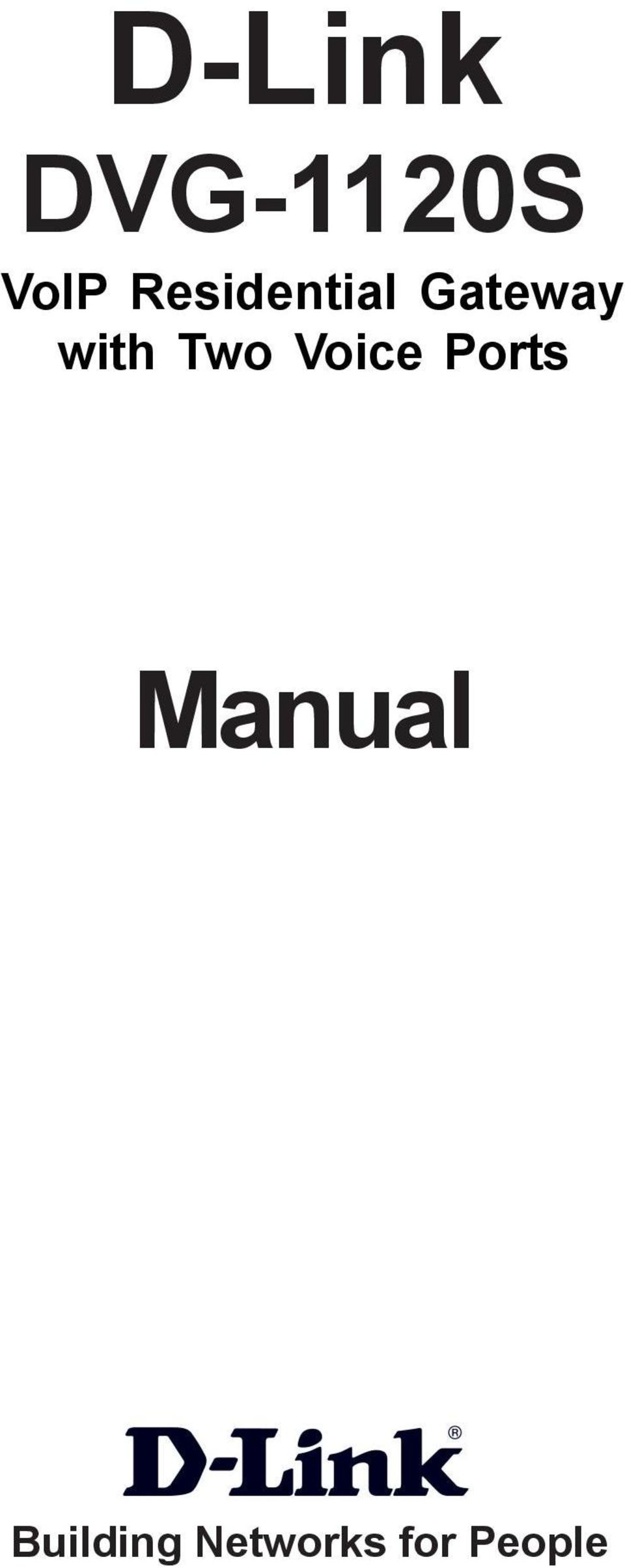 Two Voice Ports Manual