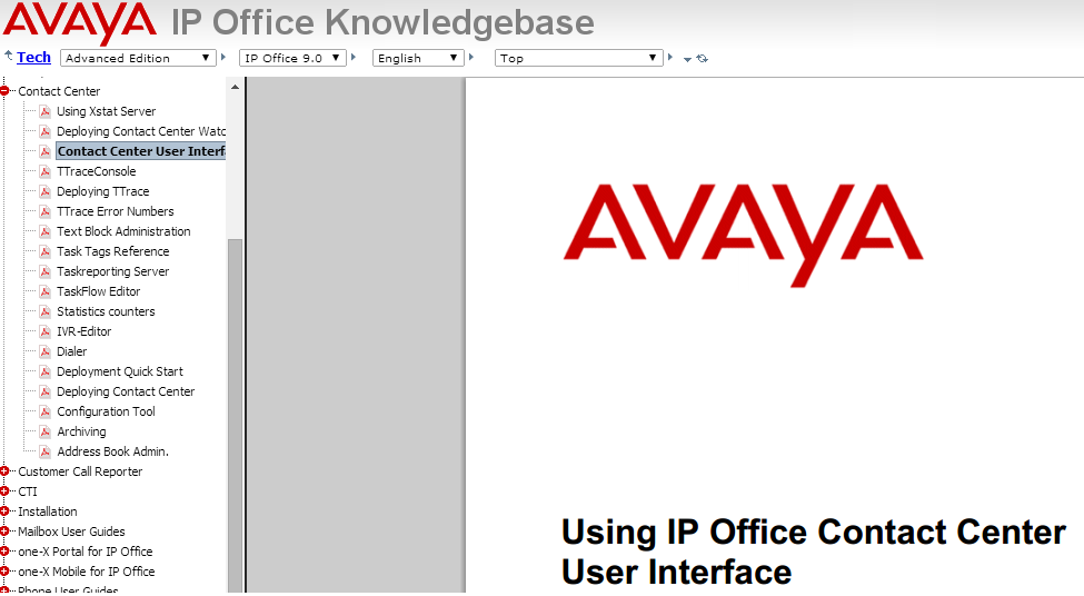 Knowledgebase IP Office documentation Description of user interface TaskFlow editor All available