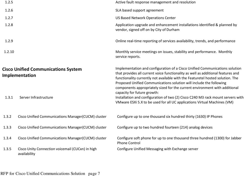 Cisco Unified Communications System Implementation Implementation and configuration of a Cisco Unified Communications solution that provides all current voice functionality as well as additional
