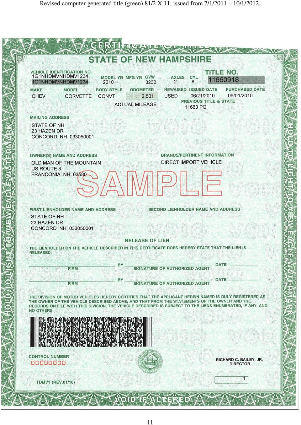 State of new hampshire pdf for The national motor vehicle title information system