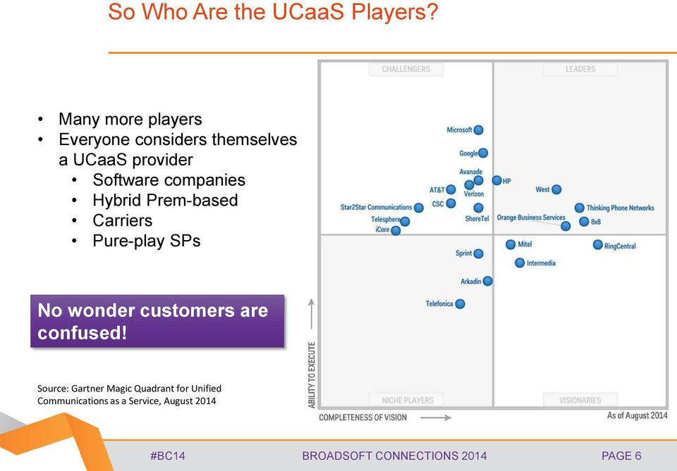 companies Hybrid Prem-based Carriers Pure-play SPs No wonder customers are