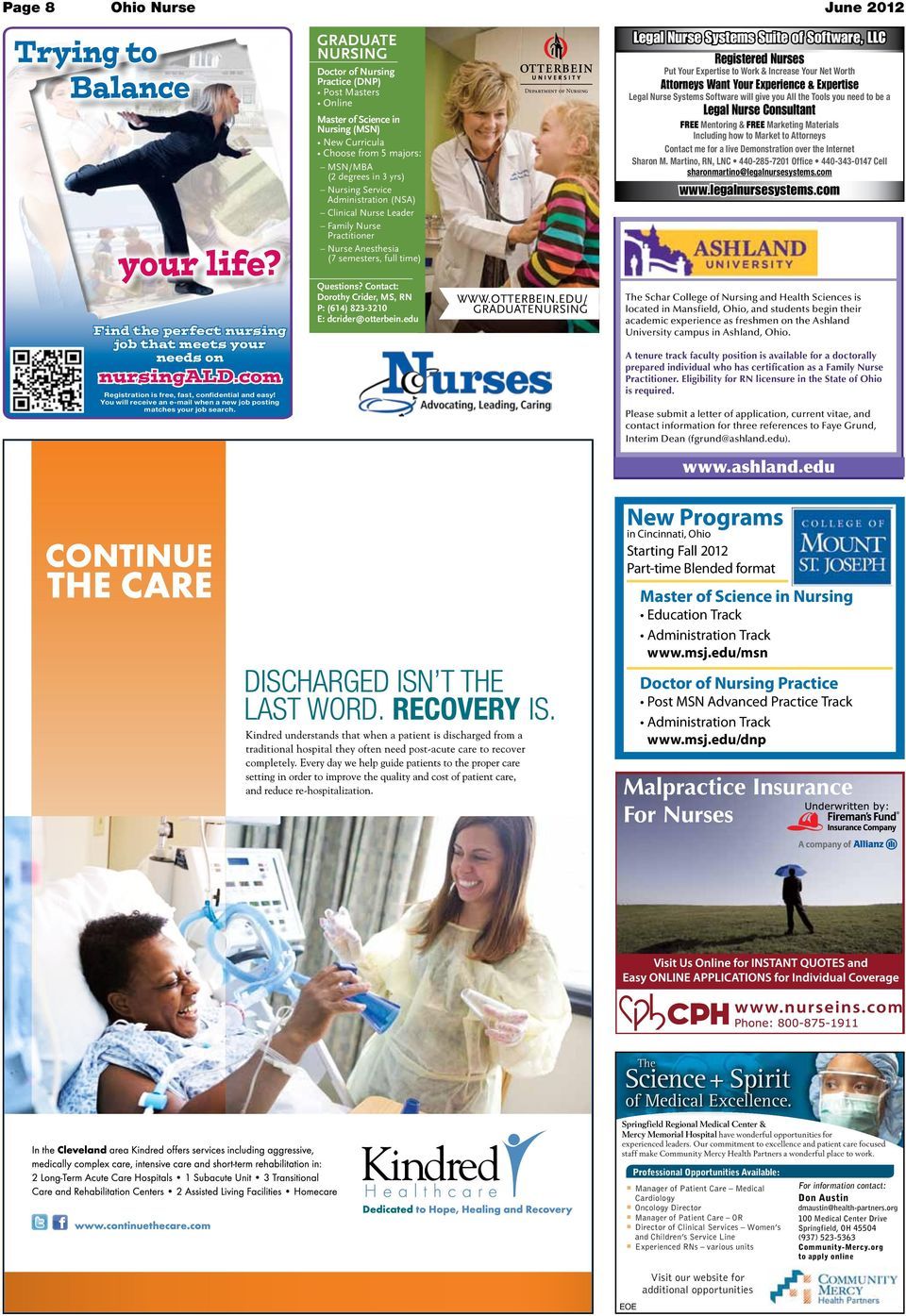 GRADUATE NURSING Doctor of Nursing Practice (DNP) Post Masters Online Master of Science in Nursing (MSN) New Curricula Choose from 5 majors: MSN/MBA (2 degrees in 3 yrs) Nursing Service