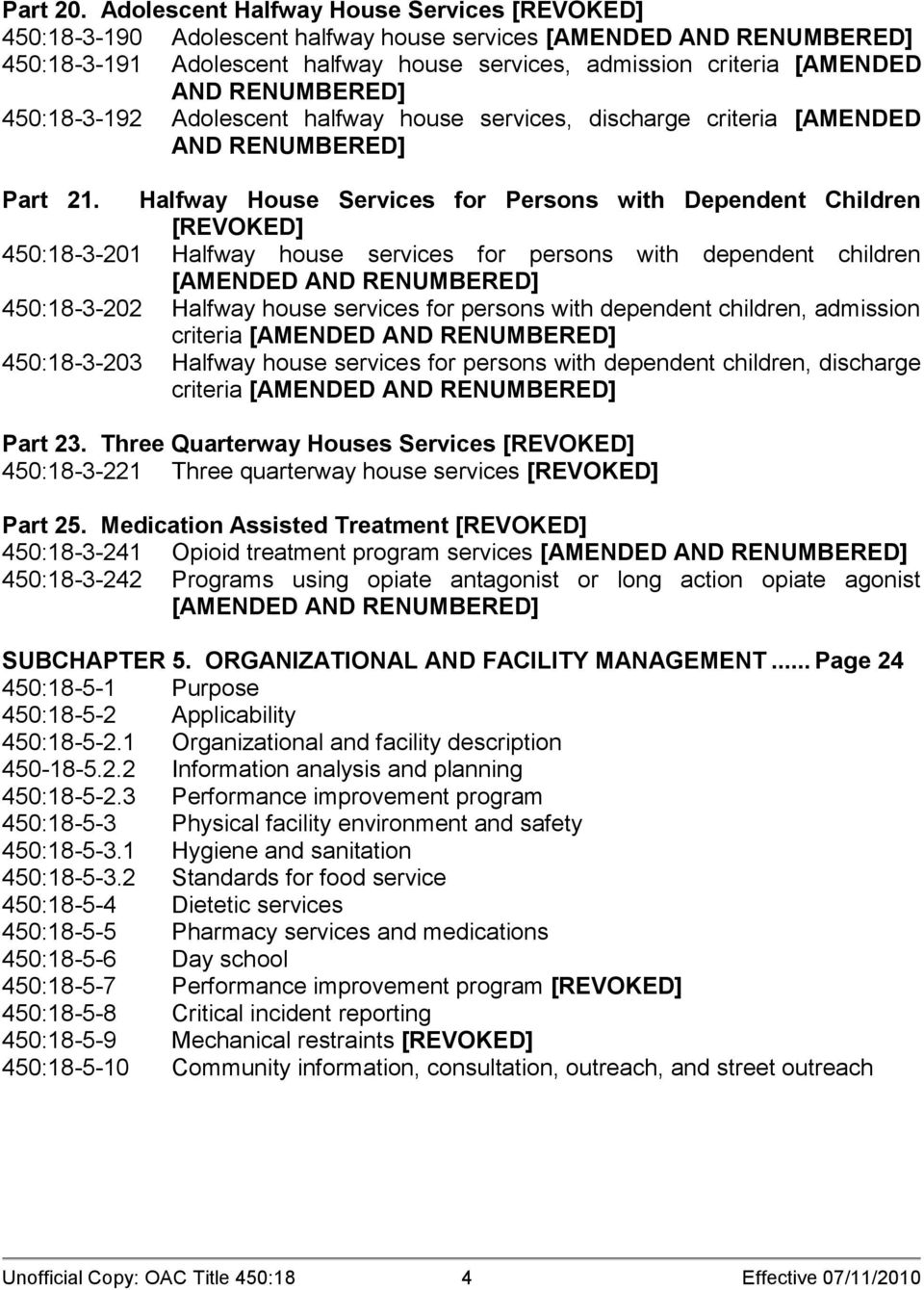 RENUMBERED] 450:18-3-192 Adolescent halfway house services, discharge criteria [AMENDED AND RENUMBERED] Part 21.