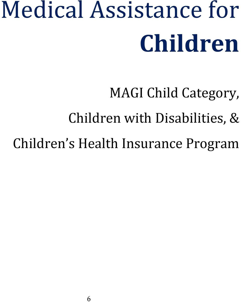 Children with Disabilities, &