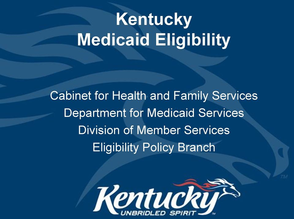 Department for Medicaid Services