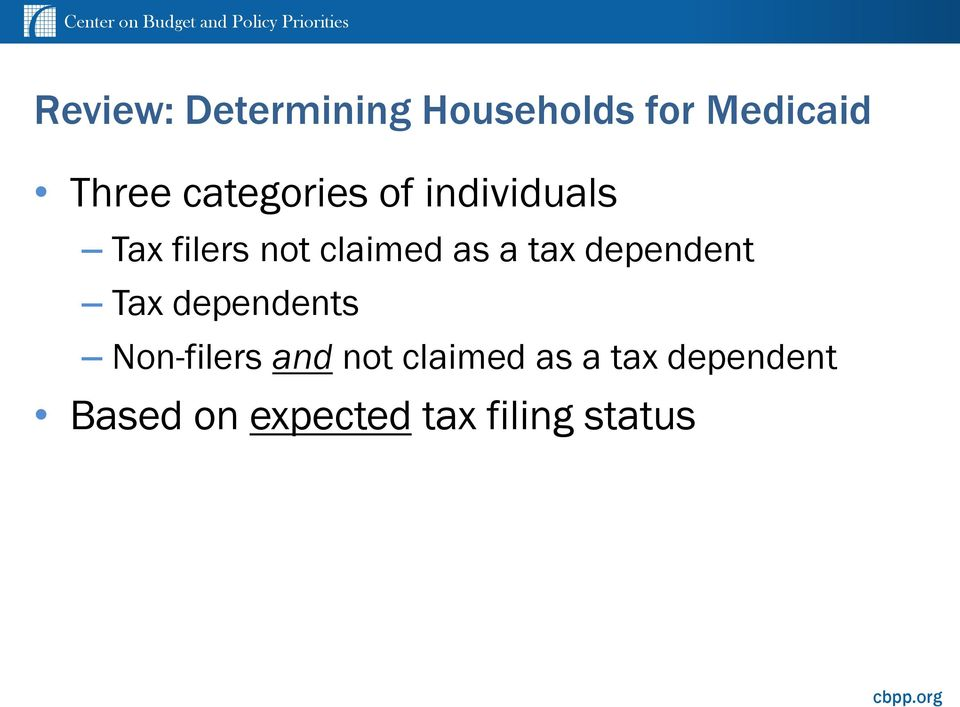 tax dependent Tax dependents Non-filers and not