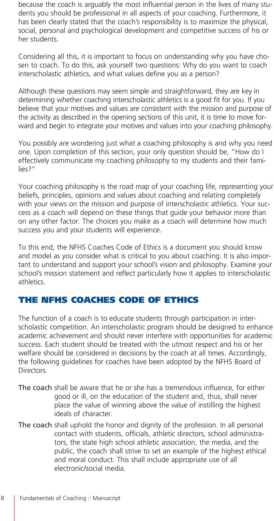 fundamentals of coaching pdf considering all this it is important to focus on understanding why you have chosen to