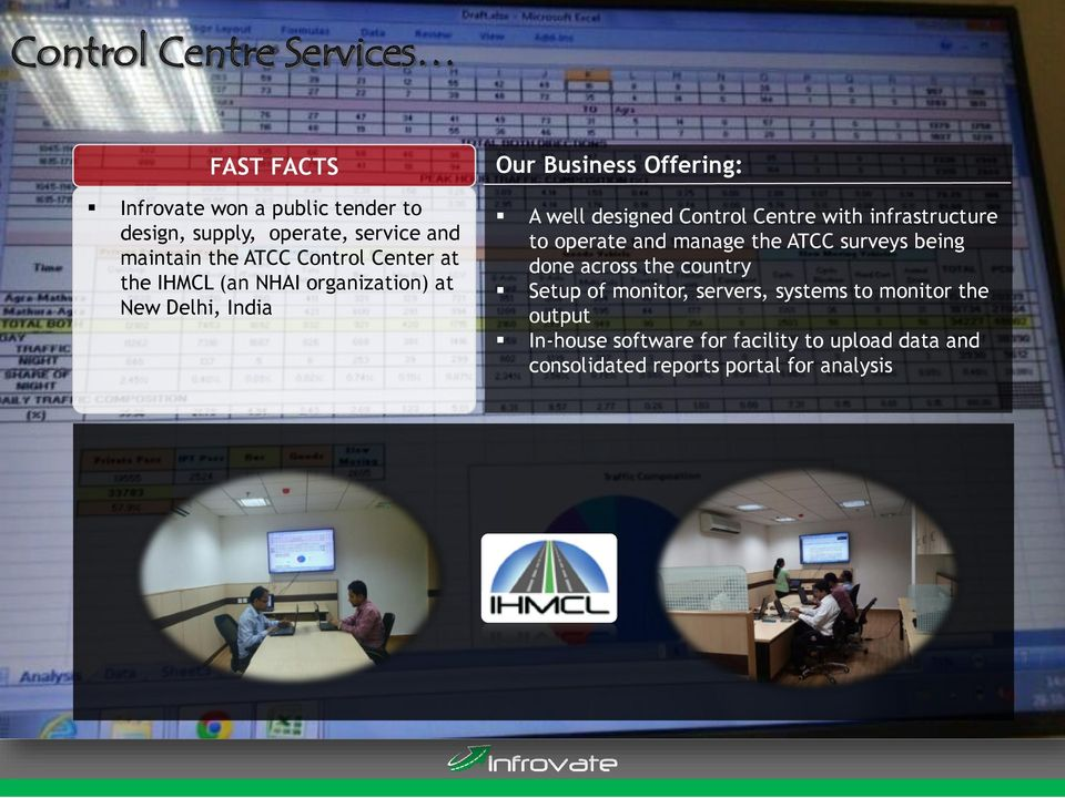 Control Centre with infrastructure to operate and manage the ATCC surveys being done across the country Setup of
