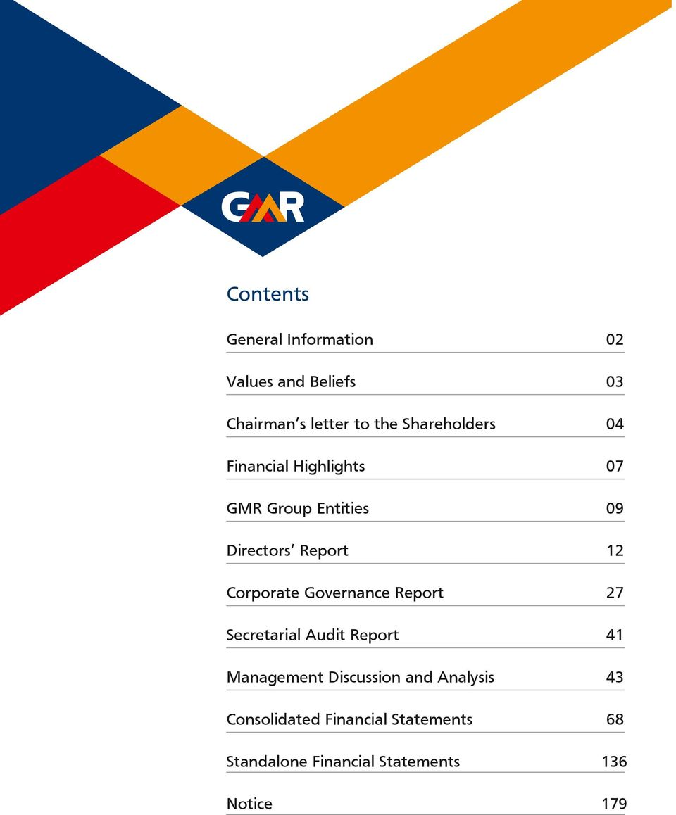 Corporate Governance Report 27 Secretarial Audit Report 41 Management Discussion and