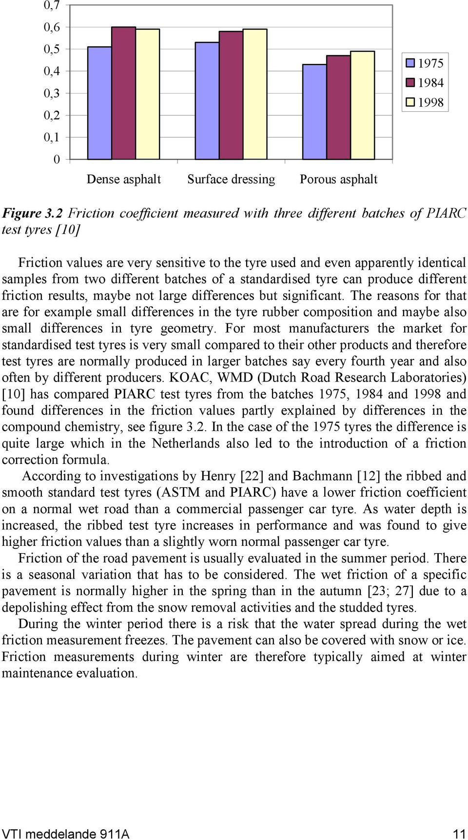 batches of a standardised tyre can produce different friction results, maybe not large differences but significant.