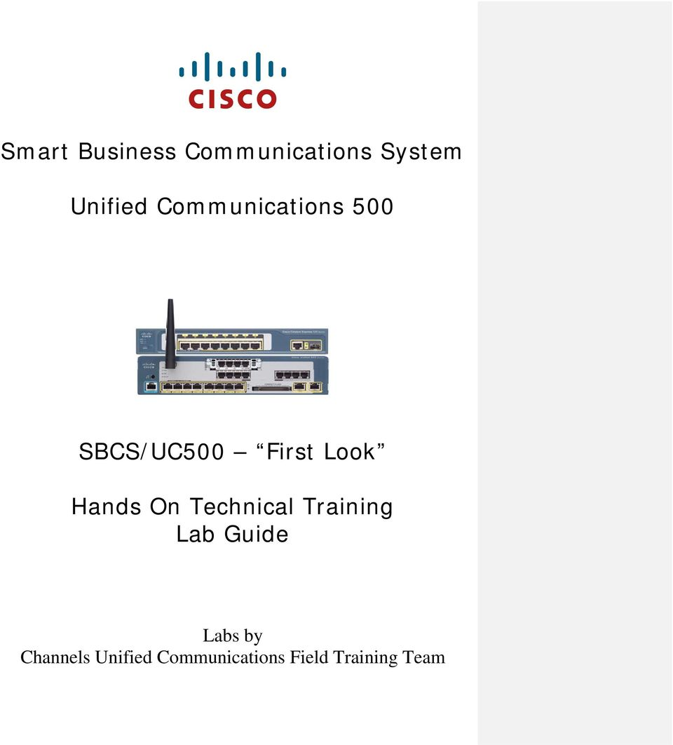 Hands On Technical Training Lab Guide Labs by