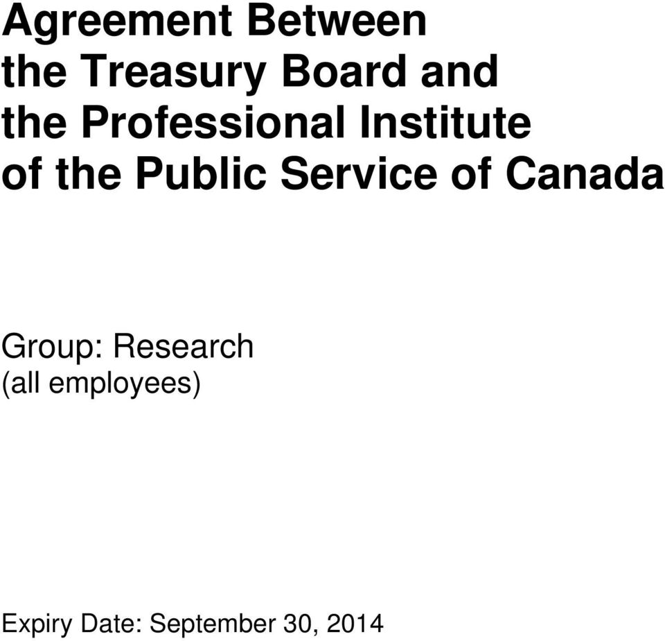 Service of Canada Group: Research (all