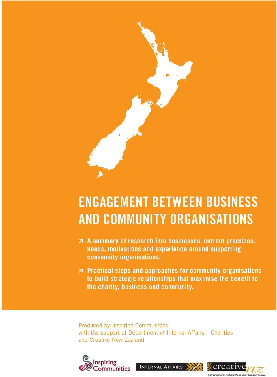 À À Practical steps and approaches for community organisations to build strategic relationships that maximise the