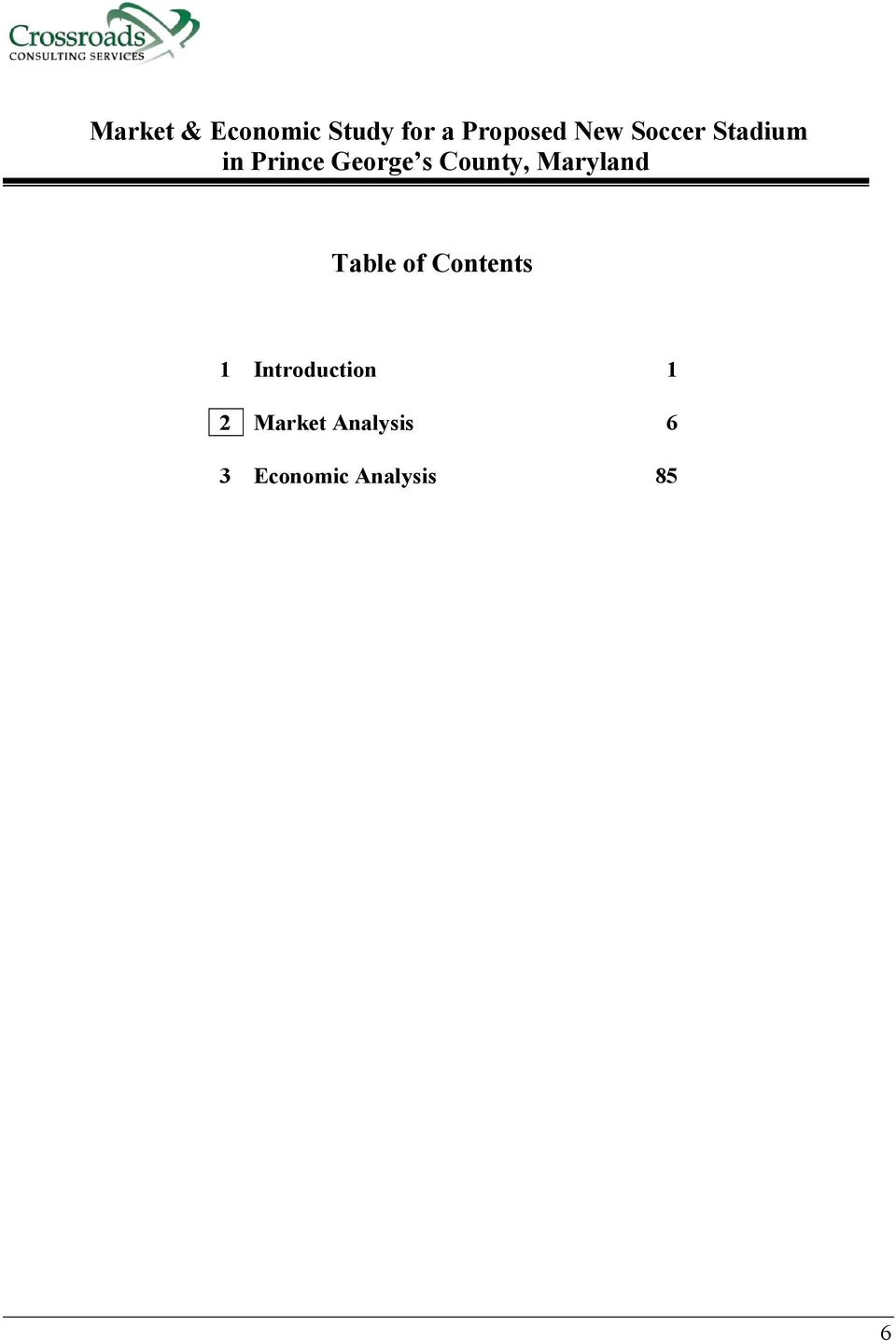 Maryland Table of Contents 1 Introduction 1