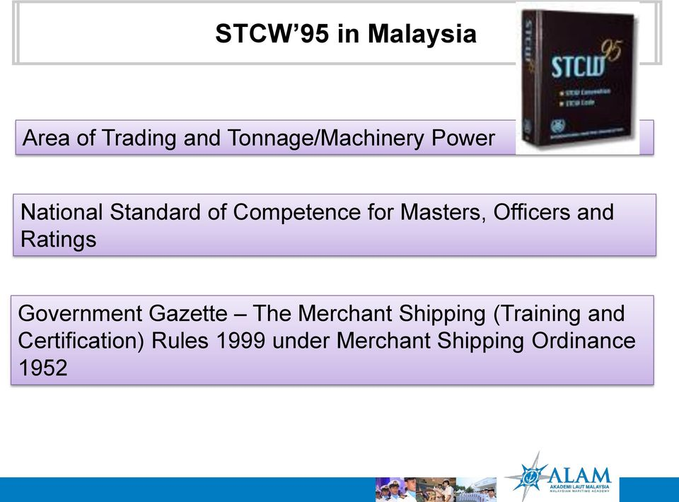 and Ratings Government Gazette The Merchant Shipping (Training
