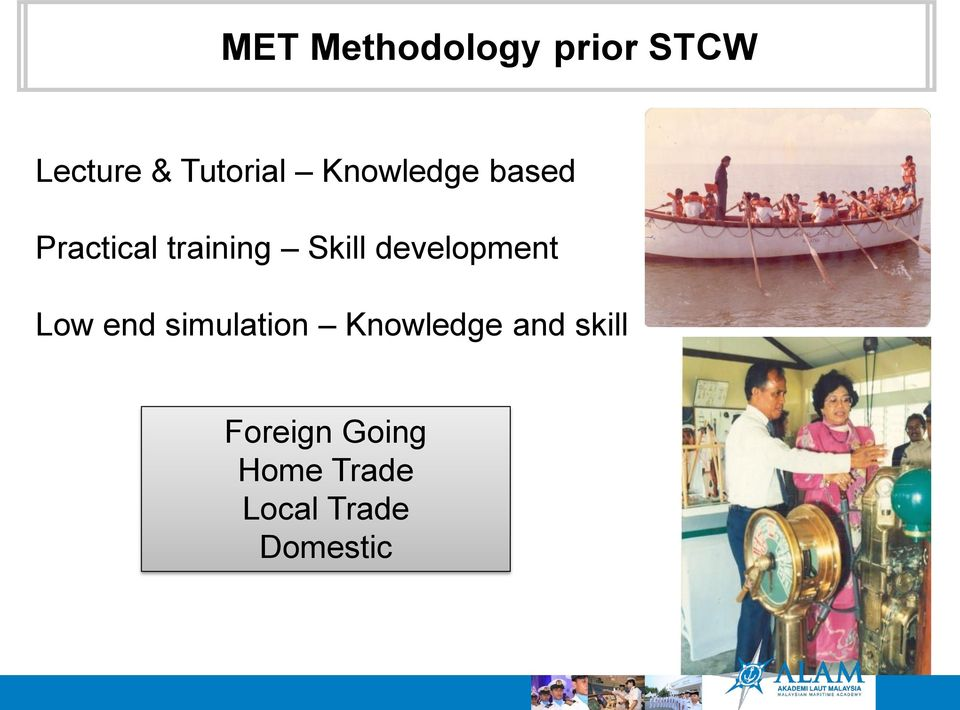 development Low end simulation Knowledge and