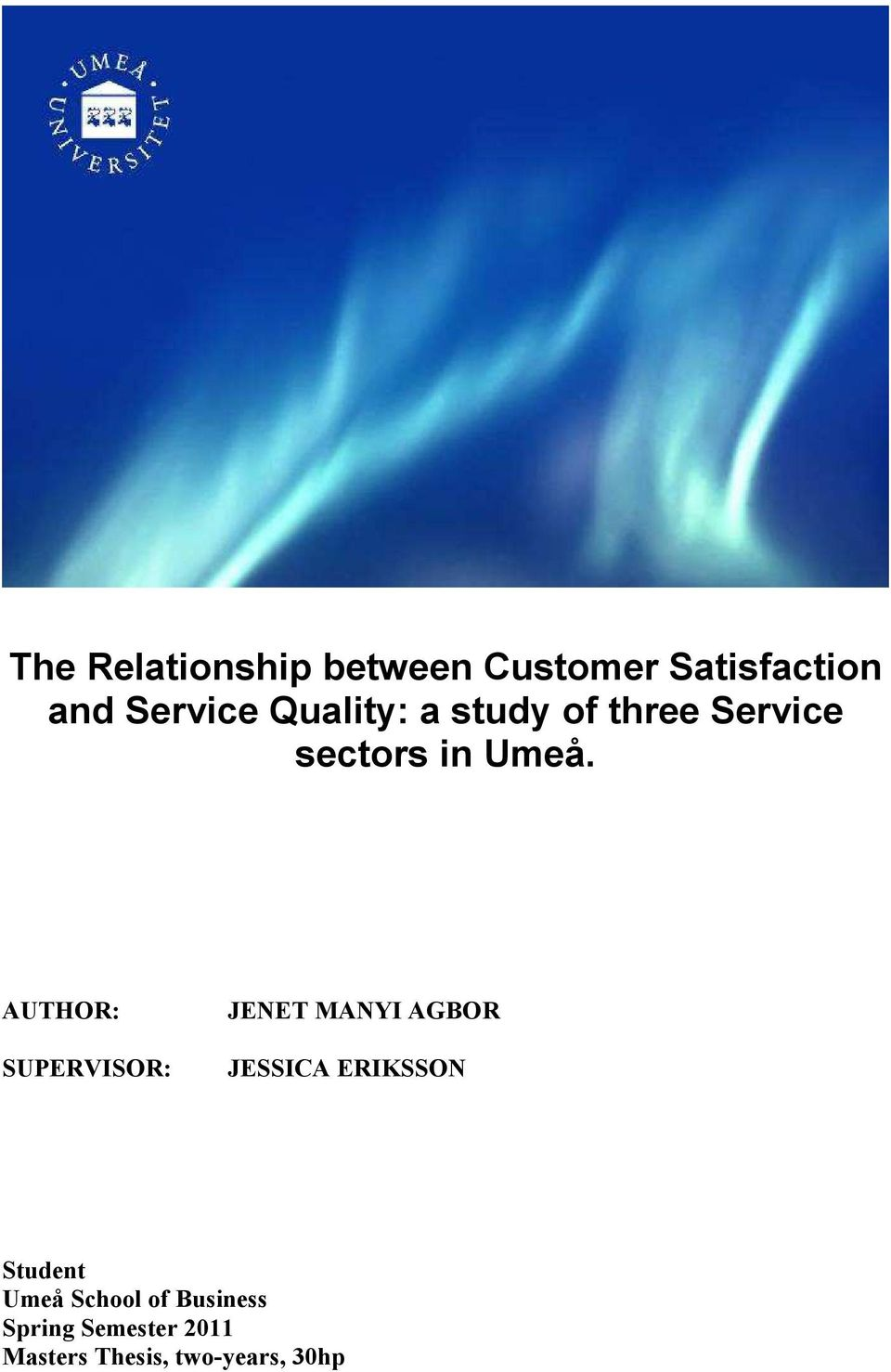 Quality online banking services thesis