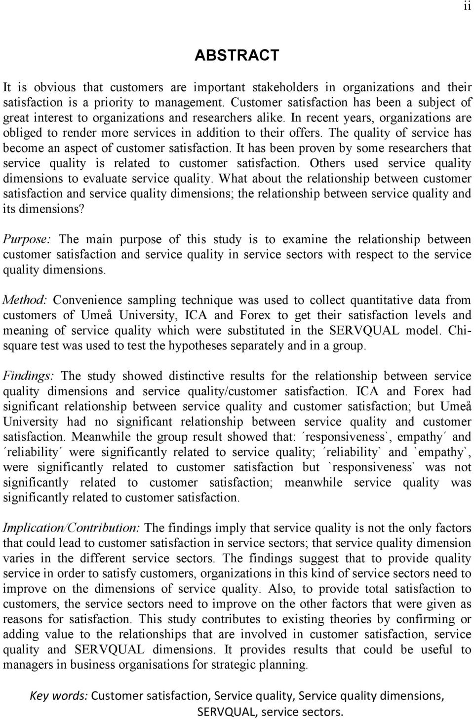 journal of service quality and customer satisfaction in transportation essay Value creation of road infrastructure networks: a structural  of highway maintenance service quality and the variables that  dotd customer satisfaction.