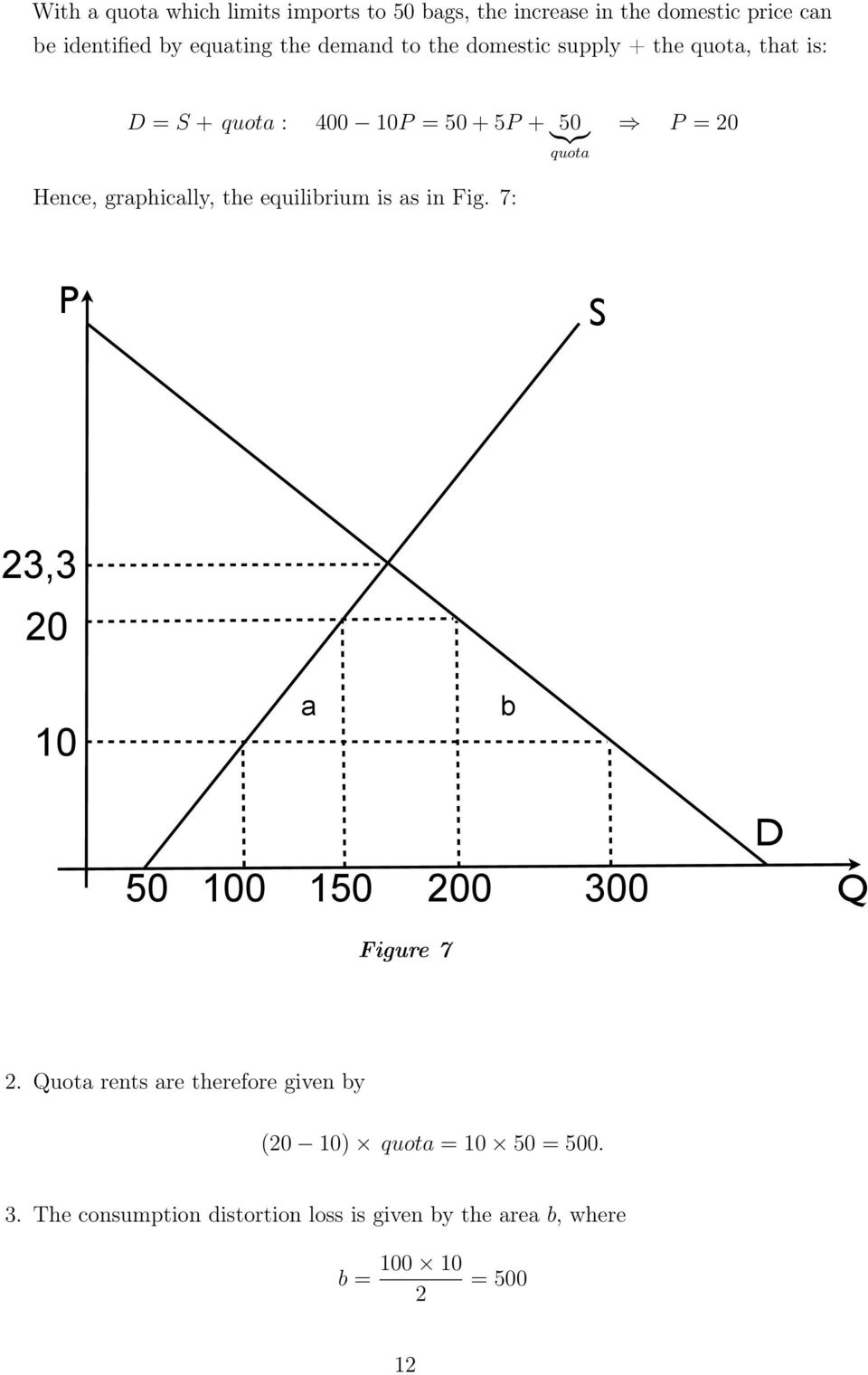 graphically, the equilibrium is as in Fig. 7: S 3,3 0 10 a b D 50 100 150 00 300 Figure 7.