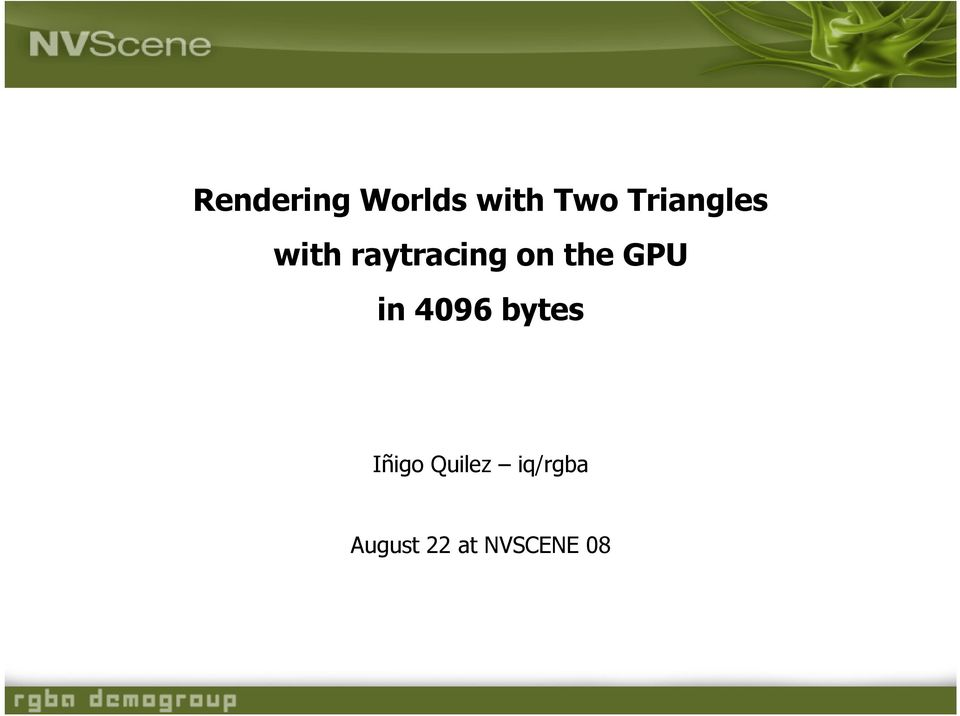 the GPU in 4096 bytes Iñigo
