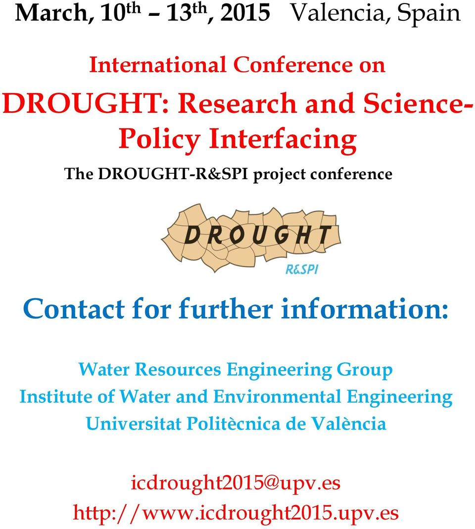 information: Water Resources Engineering Group Institute of Water and Environmental