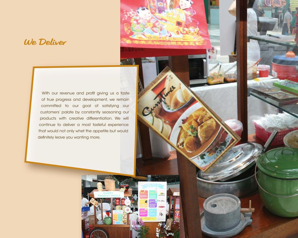 our products with creative differentiation.