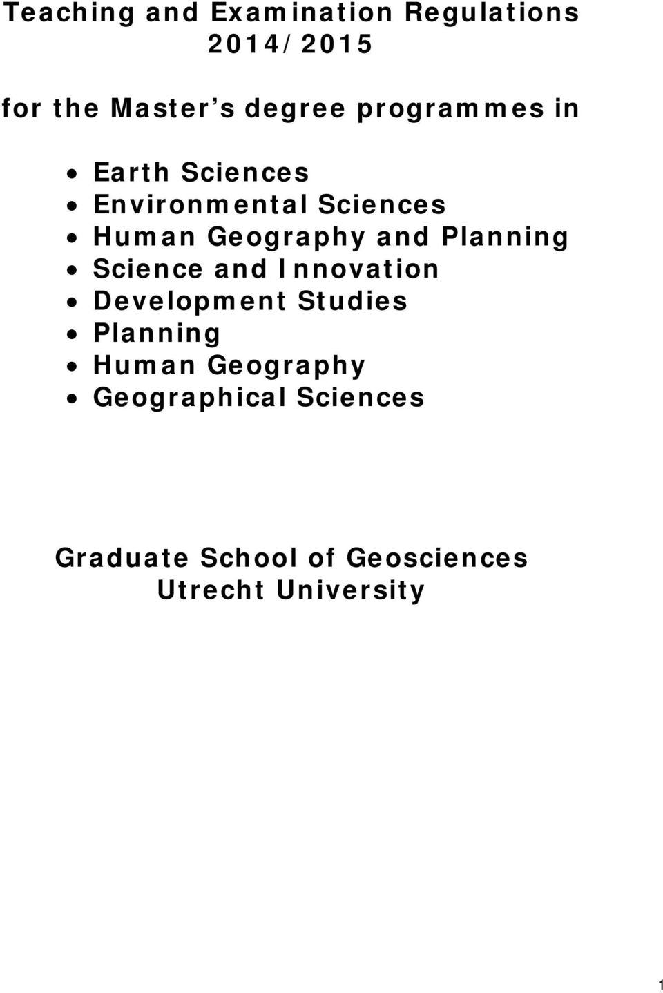 Planning Science and Innovation Development Studies Planning Human