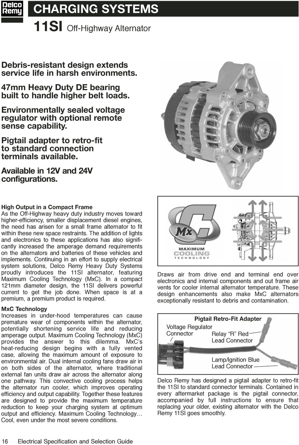 Electrical specifications selection guide pdf high output in a compact frame as the off highway heavy duty industry moves toward sciox Gallery